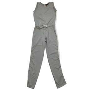 Material Girl Gray Jersey Lounge Jumpsuit small